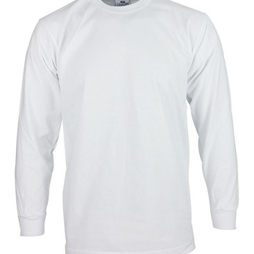 White Long Sleeve Heavy Weight