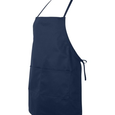 Navy Apron Side View